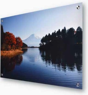 Photo print on metal with stainless post mounts