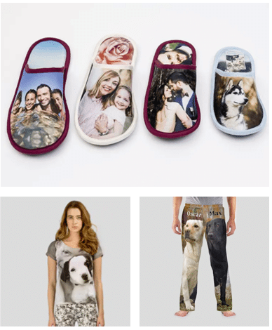 Clothing with photos printed on them